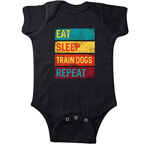 Distressed Trainer - inktastic - Dog Trainer Eat Sleep Train Dogs Infant Creeper 6 Months Black 34676