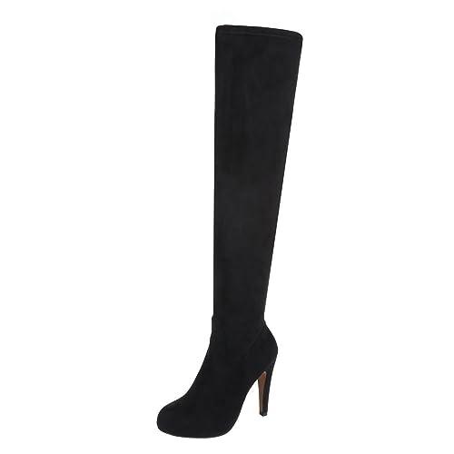 High Heel Stiefel Damenschuhe Klassischer Stiefel Pfennig