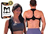 Back Posture Corrector for Men and Women: Best Brace Straightener Clavicle Support Trainer for Home & Gym Care. Pain Relief for Shoulders and Neck. Improve Hump and Upper Shoulder Slouch