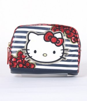 Hello Kitty Striped Bows Coin Bag