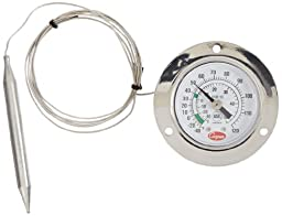 Cooper-Atkins 6142-13-3 Vapor Tension Panel Thermometer with Front Flange, NSF certified, 48\