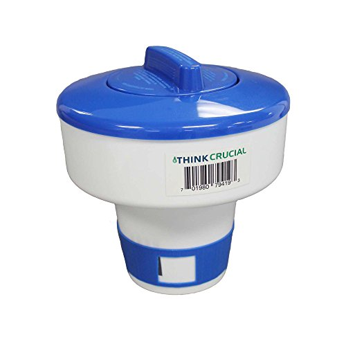 Think Crucial Floating Pool Chemical Dispenser, Fits 6 3 inch Chemical Tablets