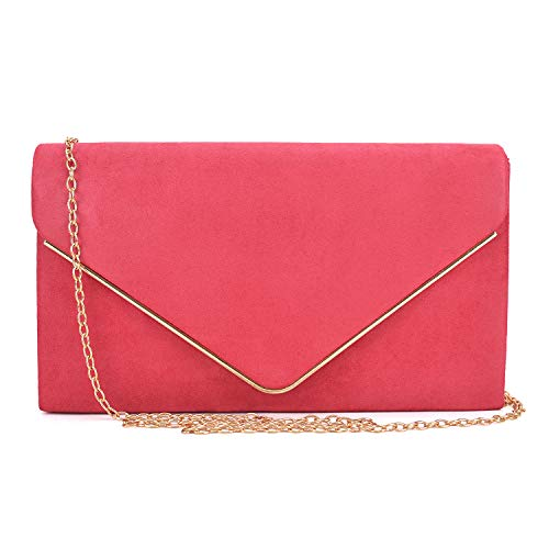 Dasein Women's Prom Clutches Purses 1 Bags Red Evening Clutch Formal Hardware Party gold Wedding Cocktail Clutches vvdrqPwn