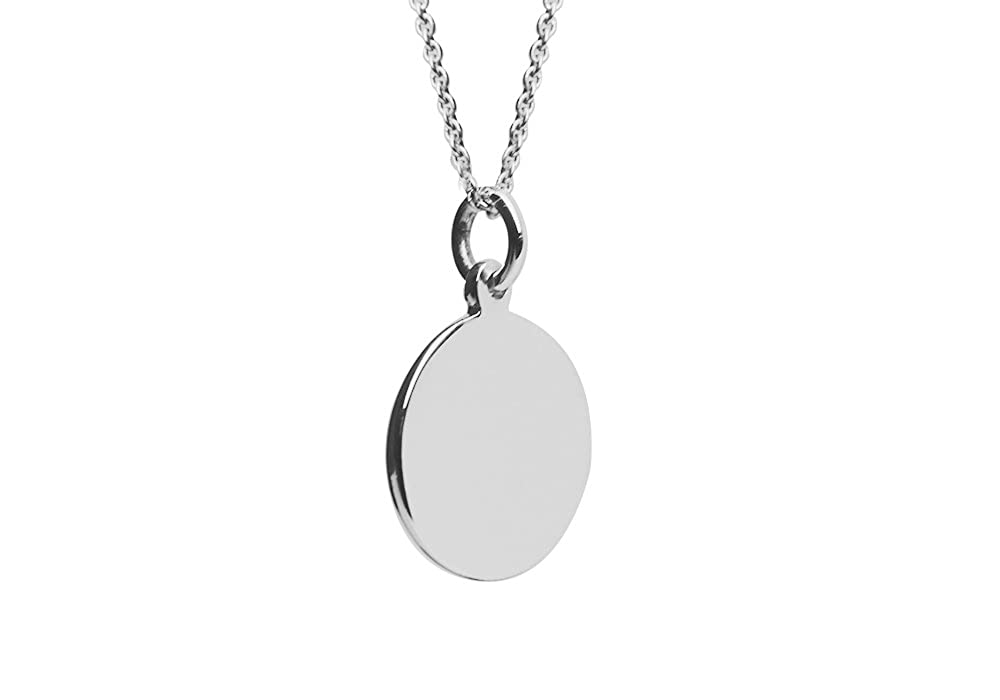 Amazon apop nyc sterling silver small plain round disc pendant amazon apop nyc sterling silver small plain round disc pendant necklace 16 inch jewelry aloadofball Images