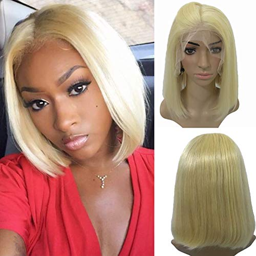 Blonde Human Hair Wigs for Black Women Lace