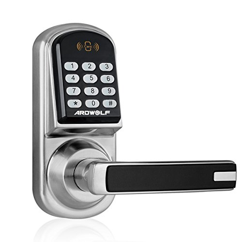 ARDWOLF A30 Keyless Smart Door Lock Keypad, with Reversible Lever and Automatic - Set Office Function Door Knob