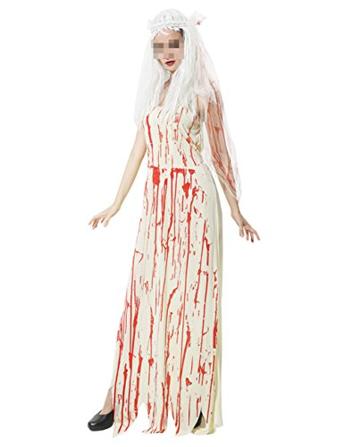 THEE Women Girl Ghost Bride Costume Halloween (The Bride Of Chucky Halloween Costumes)