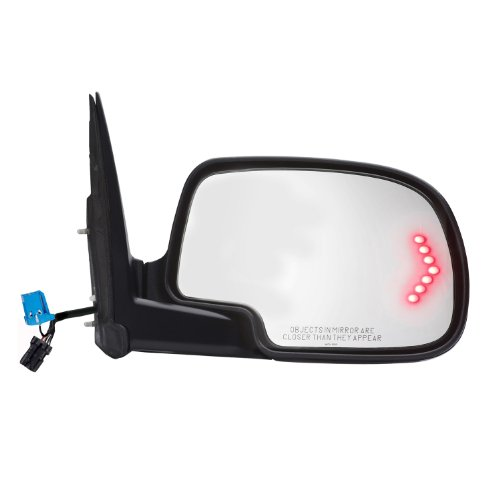 Gmc Yukon Power Mirror (Fit System 62133G Chevrolet/GMC/Cadillac Passenger Side OE Style Heated Power Replacement Towing Mirror with Arrow)