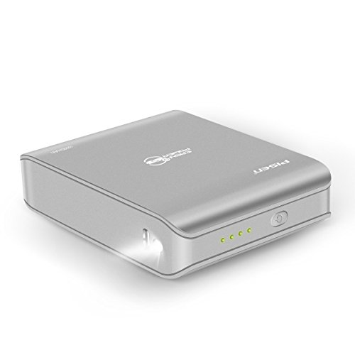 PISEN Power Bank,10050mAh Portable Charger Ultra-Compact Body,Type-C&Micro-USB Dual Input,Small External Battery Pack for iPhone,Samsung Phone and More (Grey)