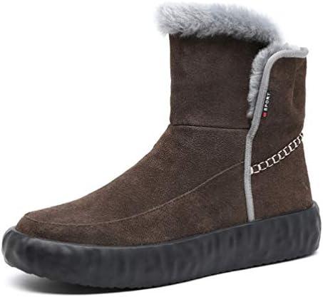 ハイカット ワークブーツ 厚底 保温 メンズ 裏起毛 ムートンブーツ 雪用 通学 滑らない 普段履き メンズ ブーツ 幅広 防寒 お出かけ 暖かい スノーブーツ 綿靴 雪靴 スノーブーツシューズ マーティンブーツ