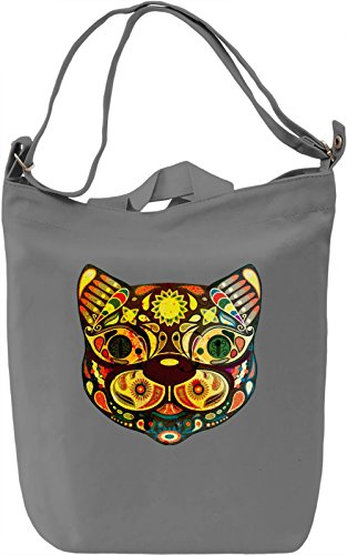 Cat Mask Borsa Giornaliera Canvas Canvas Day Bag| 100% Premium Cotton Canvas| DTG Printing|