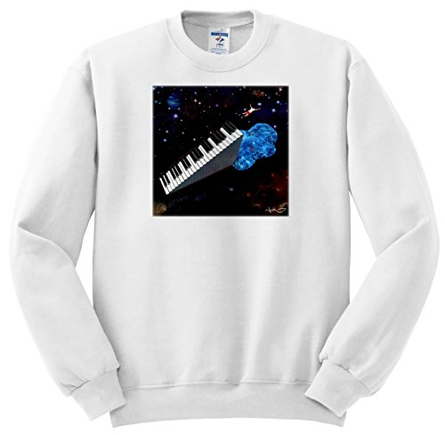 Price comparison product image 3dRose WouX – Brave Keyboardist - for Musicians who are not Afraid of Musical Challenges - Sweatshirts - Youth Sweatshirt Large(14-16) (ss_280095_12)