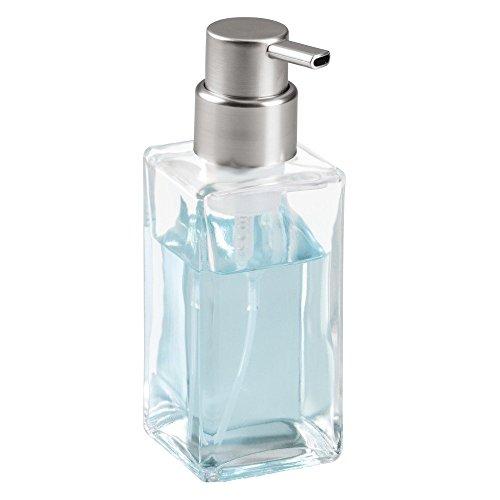 Interdesign Casilla Modern Glass Foaming Soap Dispenser Pump Import It All