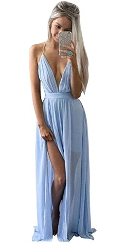 Price comparison product image AmyDong Women's Bohemian Dress,  Women Maxi Boho Summer Evening Party Beach Dress Long Sundress (S,  Blue)