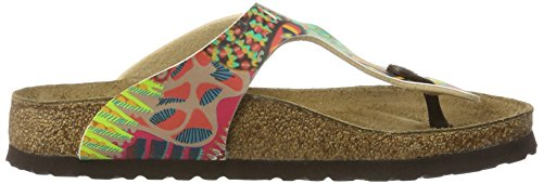 Papillio Gizeh Birko-Flor, Chanclas Para Mujer Rot (African WAX Raspberry)