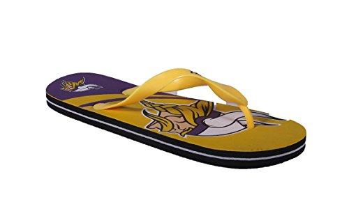 Per Sempre Da Collezione Happy Feet Uomo E Donna Con Licenza Ufficiale Grande Logo Infradito Minnesota Vikings