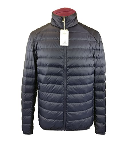 Feather Skin Mens Ultra Light Down Quilted Jacket Navy