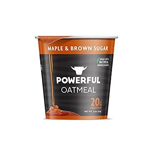 POWERFUL Oatmeal Maple & Brown Sugar 20g Protein (2- INDIVIDUAL CUPS) (NET WT 2.3 OZ EACH CUP)