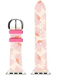 pink floral-print silicone 38/40mm interchangeable smartwatch band