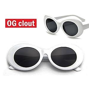 THE ORIGINAL Clout Goggles - #1 Famous White Oval Retro Sunglasses - Unisex