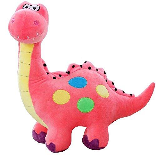 Marsjoy 14 Pink Stuffed Dinosaur Plush Toy, Plush Dinosaur Stuffed Animal, Dinosaur Toy for Baby Girl Boy Kids Birthday Gifts
