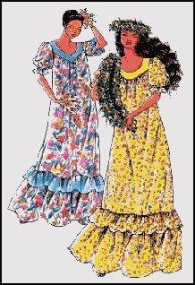 Ladies Classic Hawaiian Muumuu Sewing Pattern #103