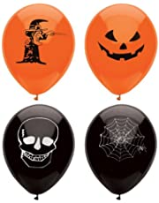 Henbrandt 15 Assorted Halloween Balloons / 23cm / Halloween Trick Or Treat Scary Party Fun