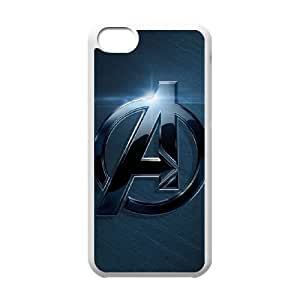 iPhone 5c Cell Phone Case White The Avengers Logo T4496602