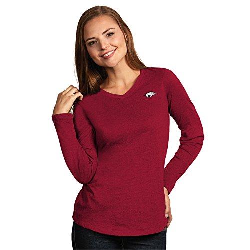University of Arkansas Ladies Heather Jersey V-Neck Tee (Large)