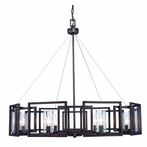 Golden Lighting 6068-8 GMT Eight Light Chandelier Bronze