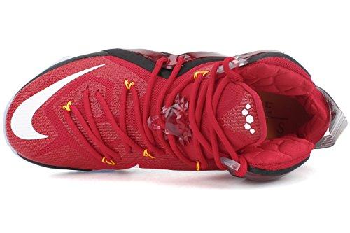 Nike - Lebron Xii Elite - Color: Nero-Rosso - Size: 46.0