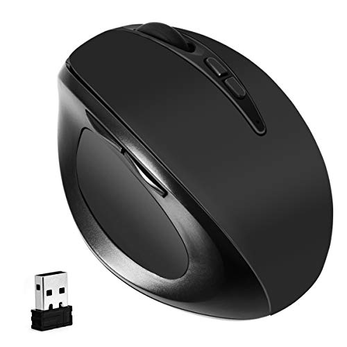 Vertical Mouse 2.4G Ergonomic Wireless Optical Mouse 3 Adjusted DPI Less Noise Computer Mice for Laptop