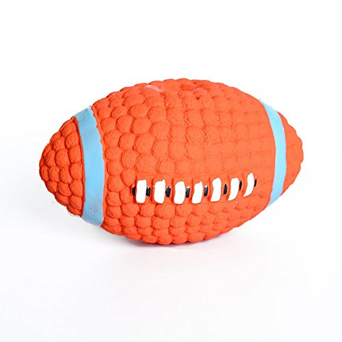 SweetPetGarden Squeak Dog ball, Spiny Dog Ball for Dog Chewing and Teeth Cleaning,indestructible dog ball,Soft Bouncing Latex Squeaky Floating Toy Fetch Throw Ball For ()