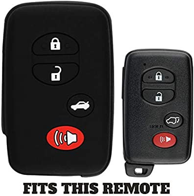 KeyGuardz Keyless Entry Remote Car Smart Key Fob Outer Shell Cover Soft Rubber Protective Case for Toyota Avalon Camry Corolla