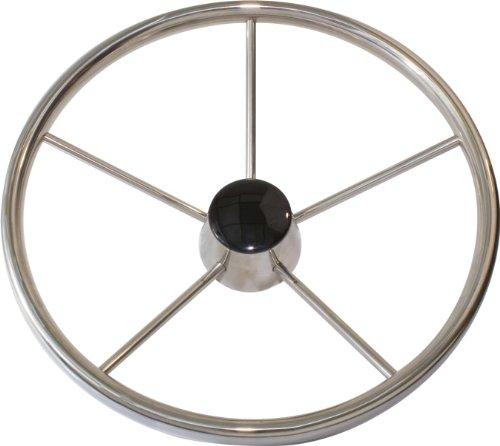 Seasense Stainless Steel Steering Wheel (15-Inch Spoke 25 Degree)