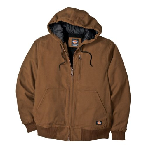 Dickies Men's Big-Tall Sanded Duck Hooded Jacket, Brown Duck, 2T (Sanded Hooded Work Jacket)