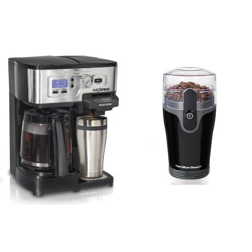 Hamilton Beach FlexBrew Coffee Maker and Coffee Grinder