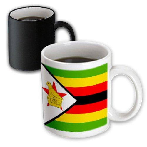 3dRose mug_31612_3 Zimbabwe Flag Magic Transforming Mug, 11 oz, Black/White