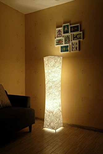 Modern Floor Lamp with Fabric Shades, yenny shop 52 inch Contemporary Design Standing LED Floor Lamp for Living Room,Bedroom, Home, Office by Yenny shop (Image #1)