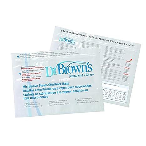 Dr. Browns 157077.2 - Bolsas para esterilización en microondas, 5 unidades
