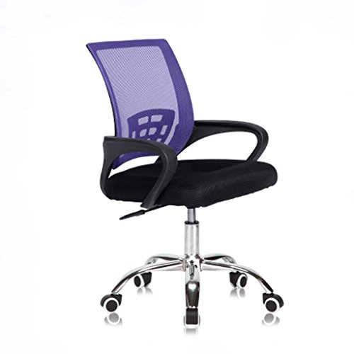 JHEY Pulley Lift Sliding Grid Ventilation Office Staff Chair Modern Minimalist Conference Room Computer Light Chair (Color : Purple) -