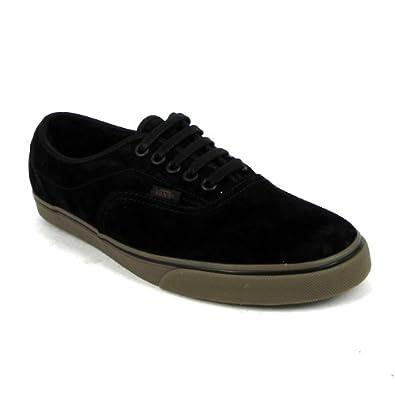 8ac68c2e66264e Vans Lpe Fleece Mens Suede Leather Skate Trainers Lace Up Shoes - Black