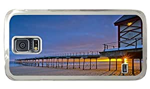 Hipster Samsung Galaxy S5 Cases Cheap price Pier Sunrise PC Transparent for Samsung S5