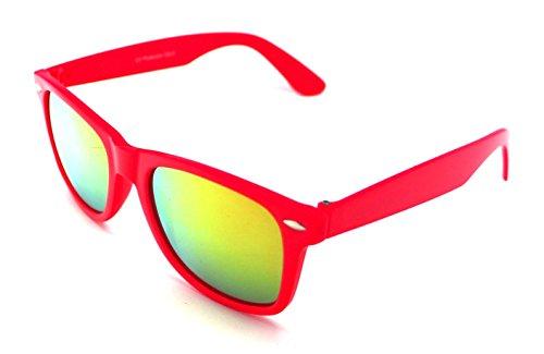 Gafas Hombre Rosa Sol de Mujer Sunglasses Wayfarer Espejo F4wPzTrUF