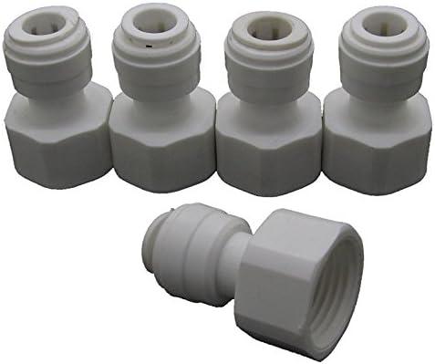 conector de lat/ón refrigerado por agua y adaptador de gas 2 unidades resistencia r/ápida Conector r/ápido de 8 mm conector para linterna y enchufe para soldadura de agua//gas