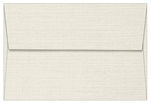 A8 Classic Linen Antique Gray Envelopes - Straight Flap, 80T, 1000 Pack