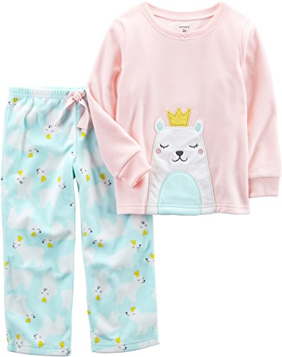 Pj Sleepwear Fleece Girls (Carter's Baby Girls' 12M-14 2 Piece Polar Princess Fleece Pajama Set 4T)