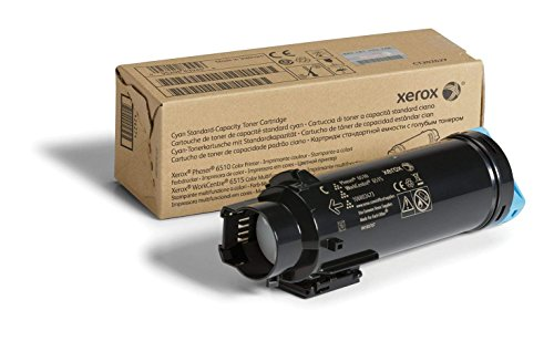 Genuine Xerox Cyan Standard Capacity Toner Cartridge (106R03473) - 1,000 Pages for use in Phaser 6510, WorkCentre 6515 (Standard Capacity Cyan Cartridge)