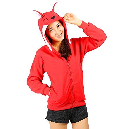 Women's Kigurumi Red Fox Costume Anime Pajamas L (Plus Size Squirrel Costume)