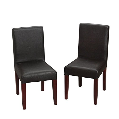 Upholstery Set Back (Gift Mark Children's Chair Set with Upholstered Seat and Back with Espresso Upholstery and cherry legs)